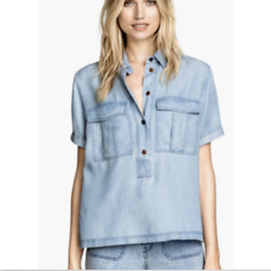 H&M Conscious Collection Chambray Button Down 4